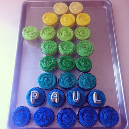 Paul's 1st birthday!  #minicupcakes #1stbirthday