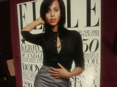 Scandal STAR…Kerry Washington on the cover Elle Magazine (June)  Breath taking.