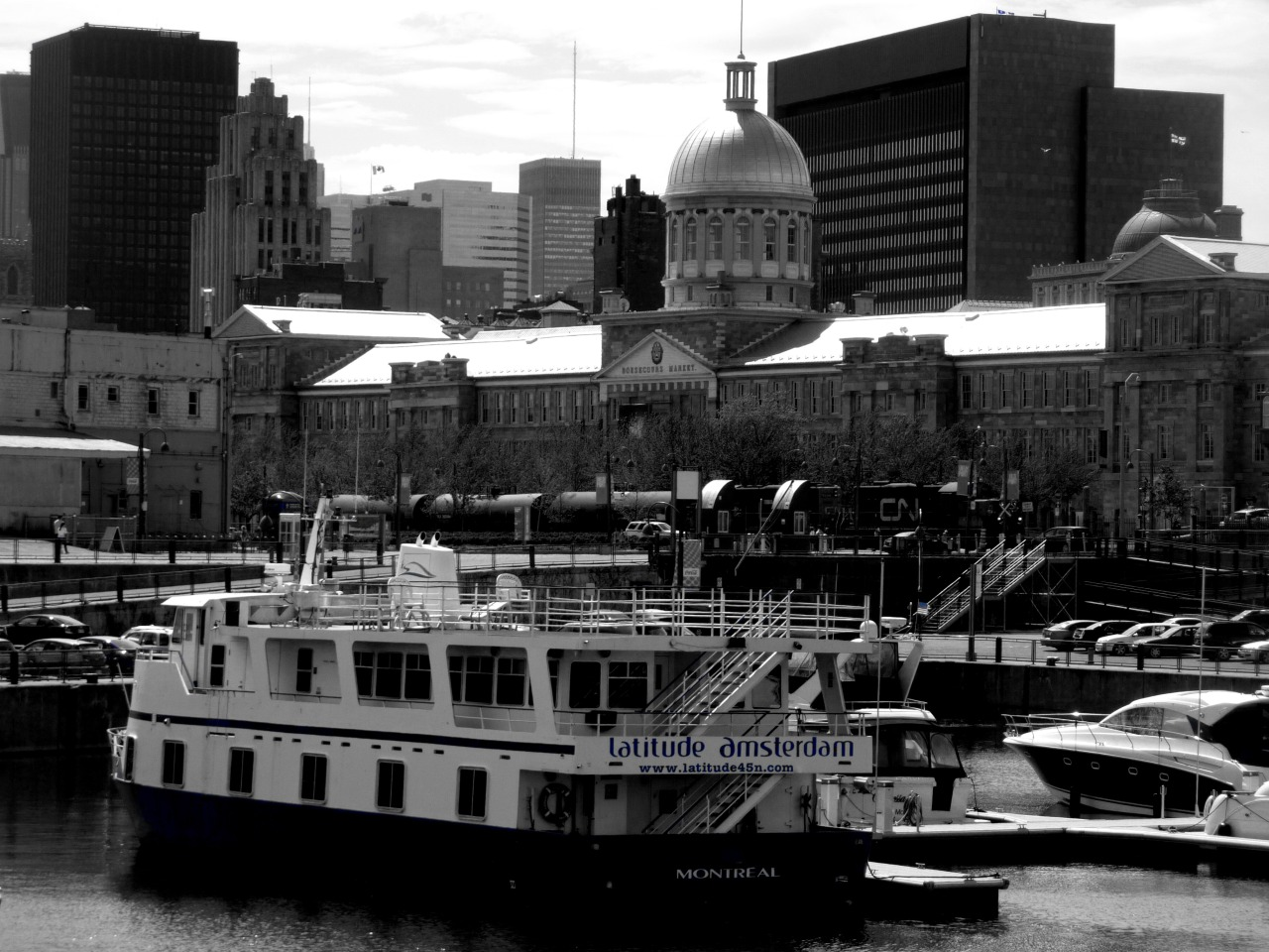 Montreal Old Port #BlackAndWhite By D. Caro
