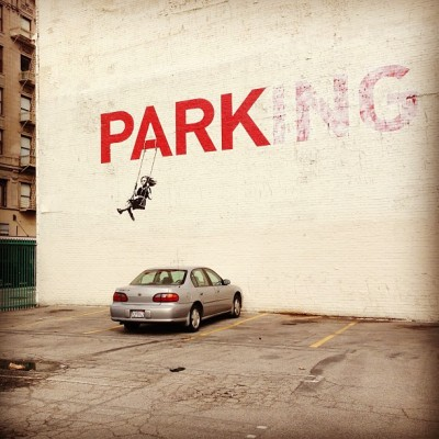 engrishasasecondlanguage:  A close up shot of my fave #Banksy @TarinaTarinaT 's #SparkleFactory in the @LAFashionDist #StreetArt #Mural #DTLA #Downtown #LA #LosAngeles (at The Sparkle Factory)