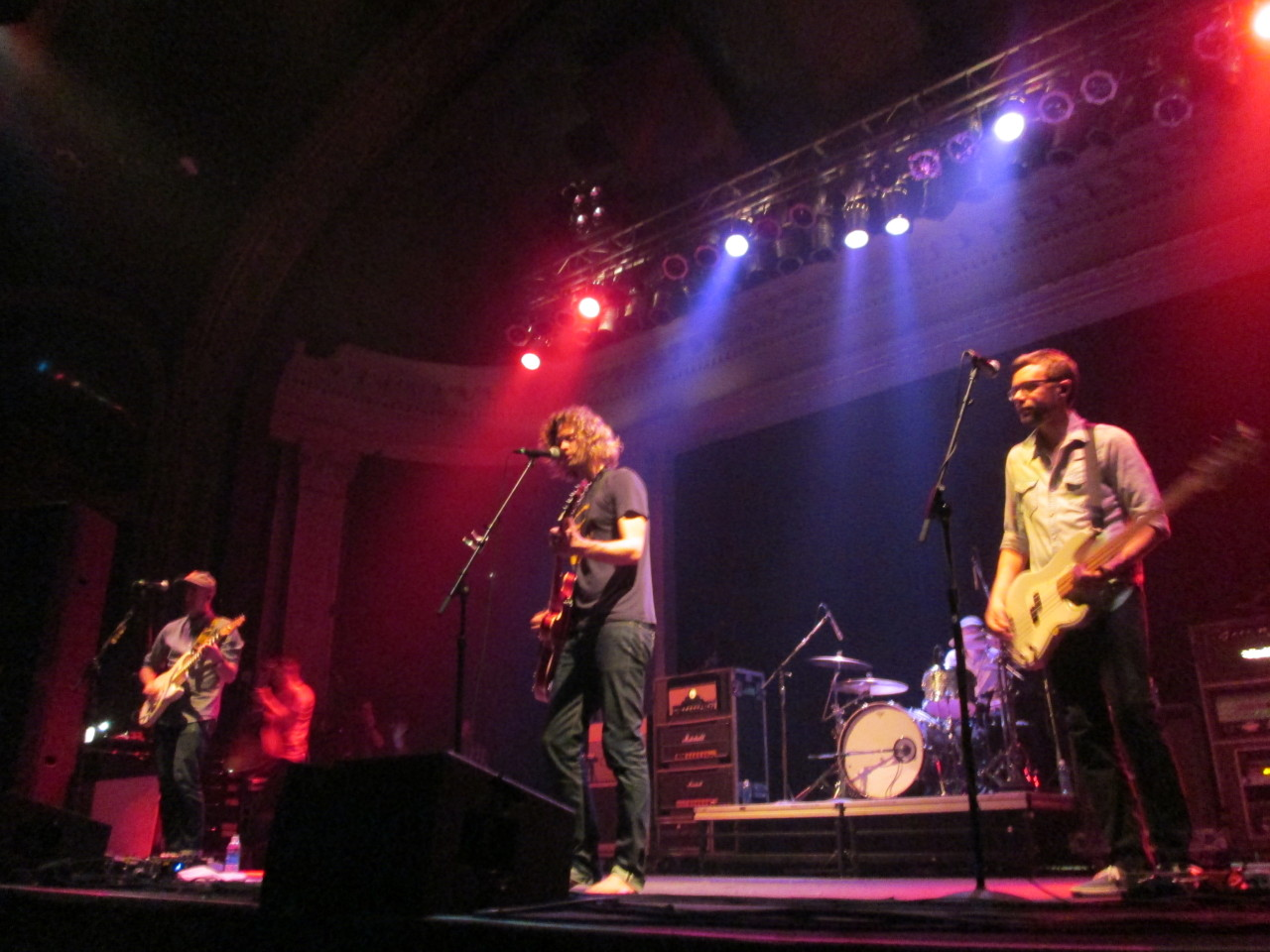 "Relient K made their way back to their home state of Ohio on May 14 to play in Columbus at Newport Music Hall. The band brought Mike Mains & the Branches, William Beckett and Hellogoodbye with them on the tour. Mike Mains & the Branches opened the show promptly at 7.  The band played a set of six songs, a few of which were from their upcoming album, ""Calm Down, Everything is Fine."" The band got the crowd involved with their set, having the audience echo lead singer, Mike Mains, for the chorus of their new song, ""Calm Down, Everything is Fine."" After Mike Mains & the Branches was William Beckett. Beckett, formerly of The Academy Is…, entered the stage alone, armed with only a guitar and his ""band in a box"" (aka a MacBook Pro). Beckett played the guitar parts in his six songs while the ""band in a box"" played the recordings of the other instruments. Beckett engaged the crowd as well telling a story about a basketball match he had on his first day of sixth grade. Included in his set was a new song titled, ""Benny & Joon"" from his upcoming album that should be released later this year. During Beckett's final song, ""Great Night,"" Matt Thiessen, lead singer of Relient K, came out to sing with Beckett. After Beckett was Hellogoodbye. The band played a total of 10 songs for the crowd. Just like Mike Mains & the Branches and Beckett, Hellogoodbye got the crowd involved with their songs. It was Wiz's birthday so the audience, and the other members of Hellogoodbye sang ""Happy Birthday"" to the keyboard player. Hellogoodbye ended their 10 song set with their most popular, ""Here (In Your Arms)"" where the venue was filled with voices singing along. Finally, it was time for Relient K. The band came out to the entire venue cheering, where they opened their set with the ever-popular ""Who I Am Hates Who I've Been."" Then the band spiraled into a 19 song set. Relient K kept the audience engaged by singing a mix of old and new songs from their upcoming album, ""Collapsible Lung,"" which is set to release in June. Beckett joined Relient K onstage for the new song, ""Boomerang."" Beckett accompanied Theissen on lead vocals and Beckett was as energetic as he was when he was in The Academy Is…  and after singing the song, Beckett and Thiessen hugged. The band even had members of the opening bands come out for a cover of the song, ""Motorcycle Drive By"" which is originally by Third Eye Blind. Throughout the show Relient K was happy to be home and always made sure to say that. Their family members were even at the show and Thiessen dedicated ""Savannah"" to his sister, brother-in-law, and their unborn child. Overall, Relient K proved that after 15 years they still know how to bring the house down. William Beckett's set: Compromising Me Scarlett (Tokyo) Dear Life Benny & Joon Dig a Hole Great Night      Hellogoodbye's set: When We First Kissed Finding Something to Do Getting Old Swear You're in Love Coppertone The Magic Hour is Now Oh, It is Love When We First Met Everything is Debatable Here (In Your Arms)          Relient K's set: Who I Am Hates Who I've Been High of 75 Mood Rings In Love with the 80s (Pink Tux to the Prom) Don't Blink Flare Candlelight Sahara The Lining is Silver Boomerang Sweeter Motorcycle Drive By Forget and Not Slow Down Collapsible Lung I Could Take You Home Sadie Hawkins Dance Savannah Which to Bury, Us or the Hatchet Be My Escape Dylanne"