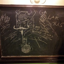 #Hipster #Galactus Making a nuisance of myself in the pub pool room again. #Comics #imadethis