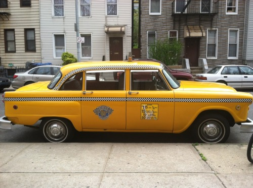 Vintage cab in Greenpoint