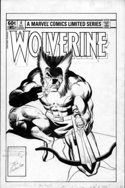 themarvelageofcomics:  The cover to WOLVERINE #4 by Frank Miller and Joe Rubinstein