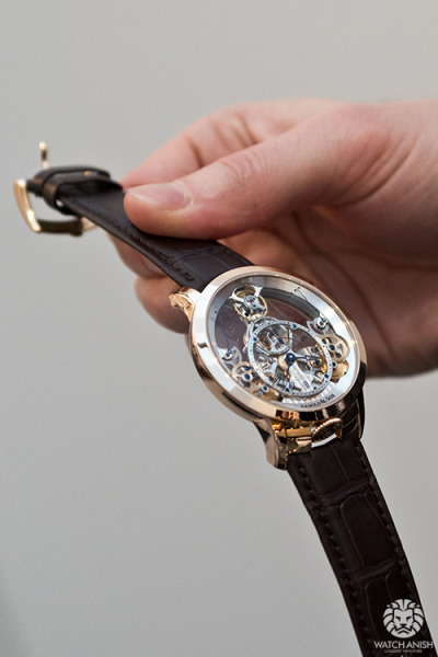 Arnold & Son Time Pyramid in 18k rose gold