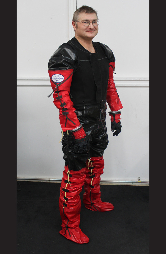 10… 9… 8… Final Frontier Design's civilian space suit is 90% complete. The team hopes to begin testing at the end of the month and build at least four suits this summer. Lookin' sharp!