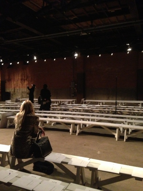 #NYFW. The lonely spectator.