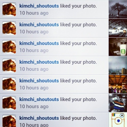 #Thanks @kimchi_shoutouts for all likes… ;-)
