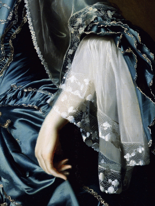 c0ssette:  (Detail) Mrs Daniel Sargent formerly known as Mary Turner by John Singleton Copley,1764.