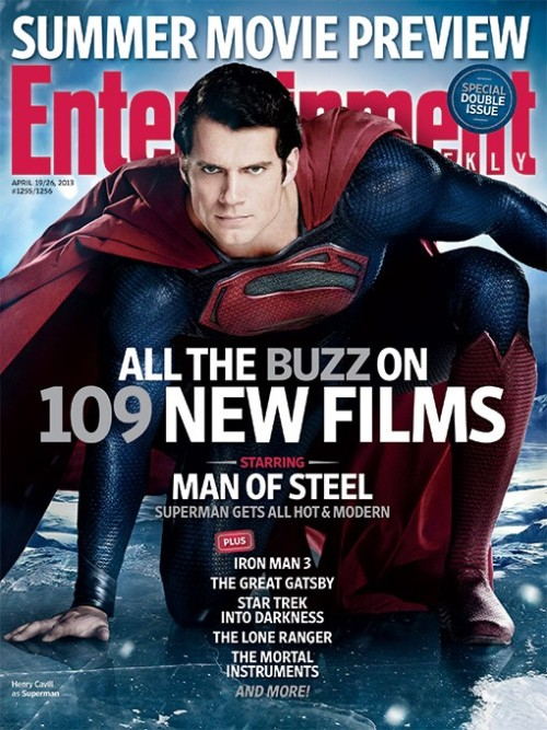 "Link Ink: Movies: Henry Cavill ""Gets all hot and modern"" on EW's new Man of Steel cover, which I guess means hiding his eyebrows. [EW]"