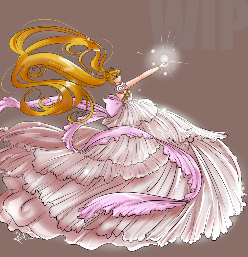 WIP-I just finished Princess Serenity! She came out marvelous but HUUUUUGE in Sai, poor thing kept crashing. Next are the Scouts/Senshi…if I'm really good, I'll do the Outers! Here's hoping!
