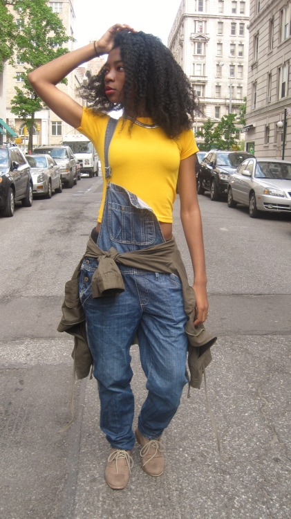 blackfashion:  overalls LOVE!! -justLostJC  It's apparent I need overalls…