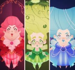 The Three Fairies! Flora❤️fauna