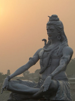 lotusunfurled:  by Jarmo Tuisk This beautiful Shiva statue is in Parmarth Niketan ghat in Laxman Jhula, Rishikesh, india