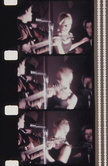 Lou Reed and Edie Sedgwick at the first public performance of The Velvet Underground January 13, 1966byJonas Mekas