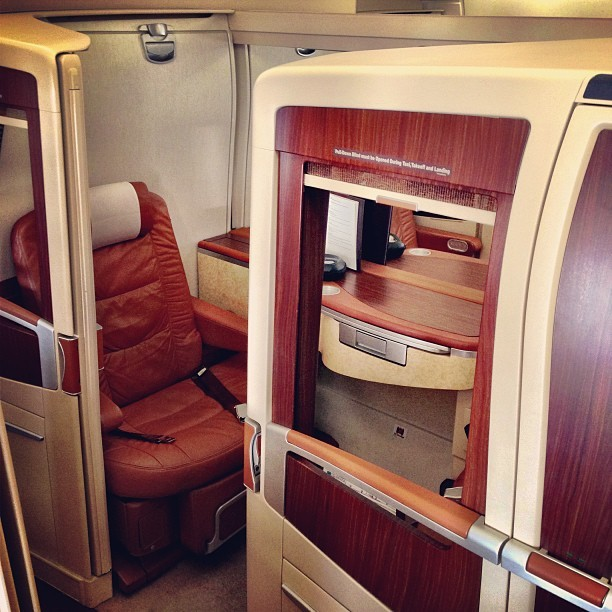 #Singaporeairlines #Suite #Class - it's basically #firstclass but with a shell. - #travel #flight