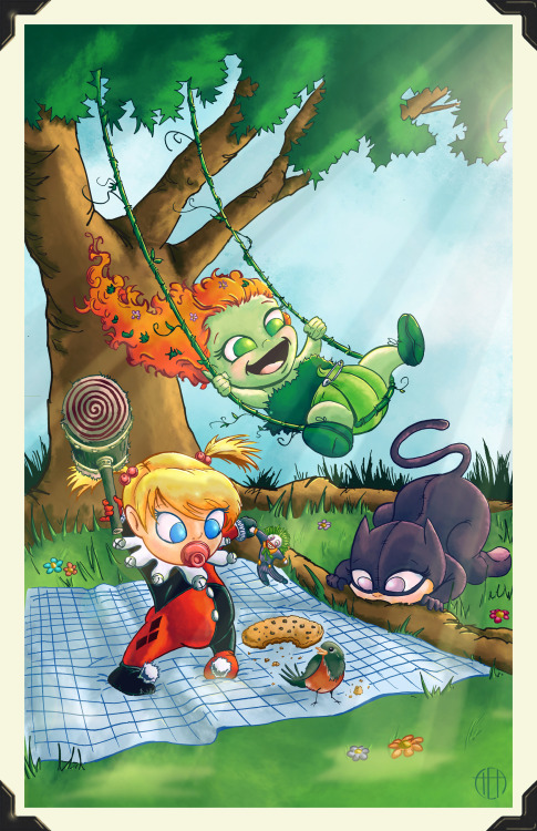 theamat:  Li'l Gotham City Sirens by Theamat