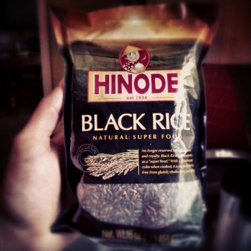 First time. #instagood #foodie #BlackRice #android #sutro