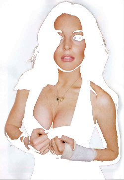 ssleepover:  transparent Lindsay becomes one with your blog <3