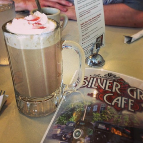 Raspberry white chocolate mocha #coffee #chocolate (at Silver Grill Cafe)