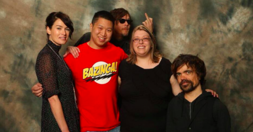 popculturebrain:  The 'Walking Dead's' Norman Reedus Photobombs 'Game Of Thrones' Fan Picture | Warming Glow This photo has everything.