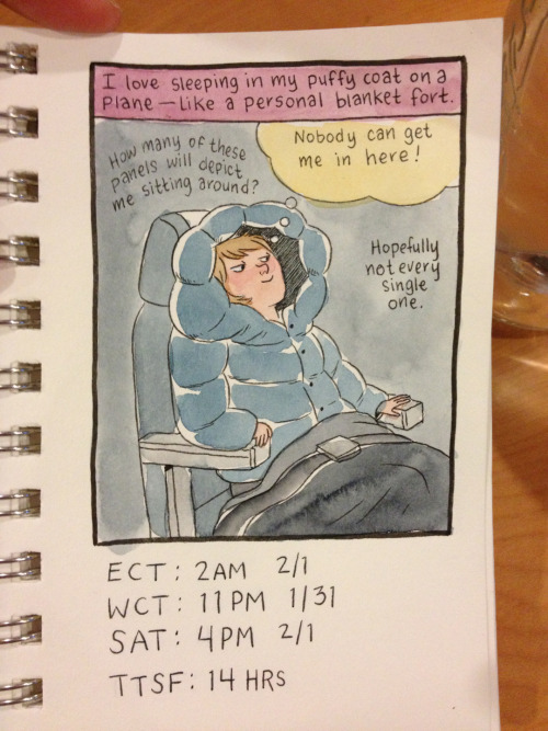 lucyknisley:  Hourlies #3. Coat delight.