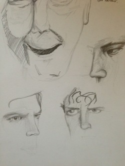 Sketchbook research - experimenting facial expression and emotion with pencil