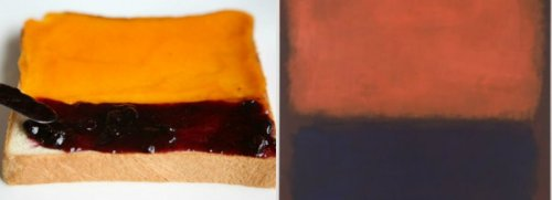 "Toast and jam, inspired by Mark Rothko's ""No. 14, 1960:"""