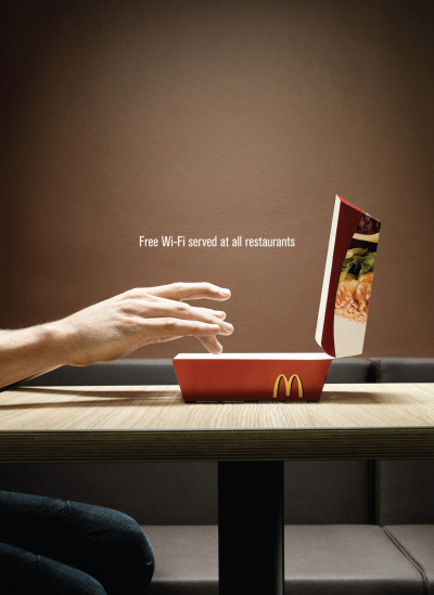 Free Wi-Fi served at all restaurants. McDonald's Ad by DDB
