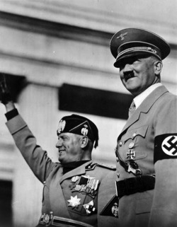 adolfi:  Adolf Hitler and Benito Mussolini.
