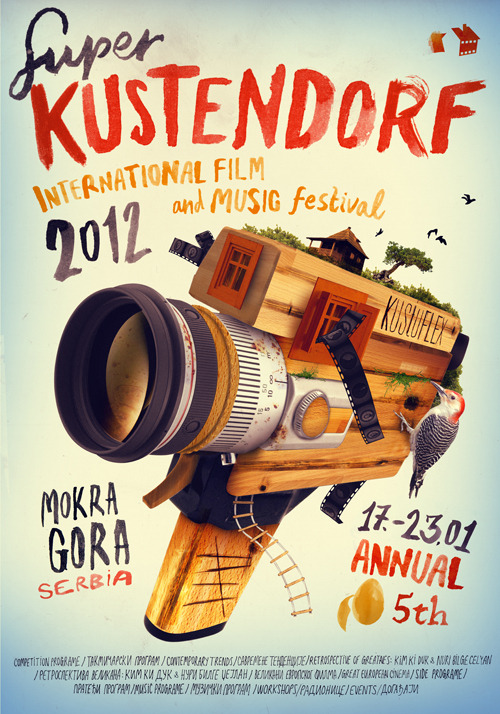 Kustendorf International Film Poster by Veljko Zajc