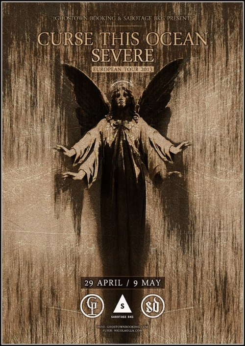 "CURSE THIS OCEAN | SEVERE European Tour 2013We are really happy to announce that Curse This Ocean will hit the road again in May with the belgian Black Metal/Punk act SEVERE. They are still working to fulfill the tourschedule, if you want to book them a show, or for any other requests, please hit them up @ cursethisocean@hotmail.it They upcoming Lp ""Lightbringer"" is still on preorder in our webstore with different deal option. Check out @ www.cultofstrikedown.com They have also a new video up for the song ""Among The Wolves"", you can watch it below …  Don't forget that from February 7th Lightbringer will be available complety in streaming in our website to promote the upcoming release. For the moment you can listen the song ""Black Blood"" for free in the following player.<a href=""http://strikedownrecords.bandcamp.com/album/sd013-lightbringer-lp"" data-mce-href=""http://strikedownrecords.bandcamp.com/album/sd013-lightbringer-lp"">SD013 