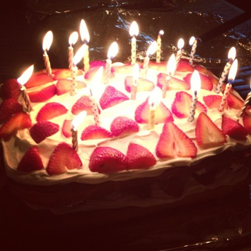 #trickcandles on my #birthday #cake >_>