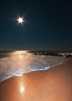 WOW!! The Beach At Night… Beautiful!! ~Andree' Honore' Smith