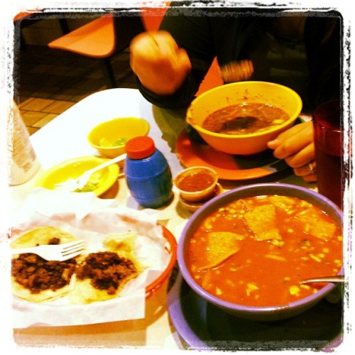 After #Mario's it's #comales time #menudo #steaktacos #carneensujugo