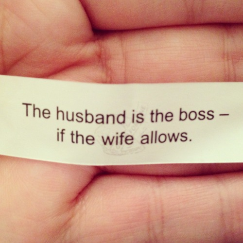 Wiping out years of women's rights, one fortune cookie at a time…