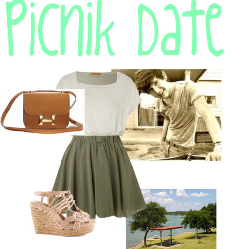 Picnik Date With Jc Caylen by lay-and-nisa featuring h&m heelsFit and flare dress, $37 / H&M  heels, $39