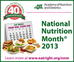 Happy National Nutrition Month!  What better time to retackle your health and wellness goals than during the month dedicated to educating you on what to eat to feel and look your best?? Sponsored by the Academy of Nutrition and Dietetics, you can find all sorts of cool nutrition info throughout the month on their website. They had me at their vegetable themed Sodoku game.