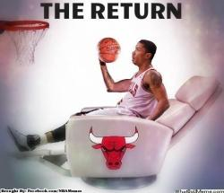 thenbamemes:  D-Rose Return!