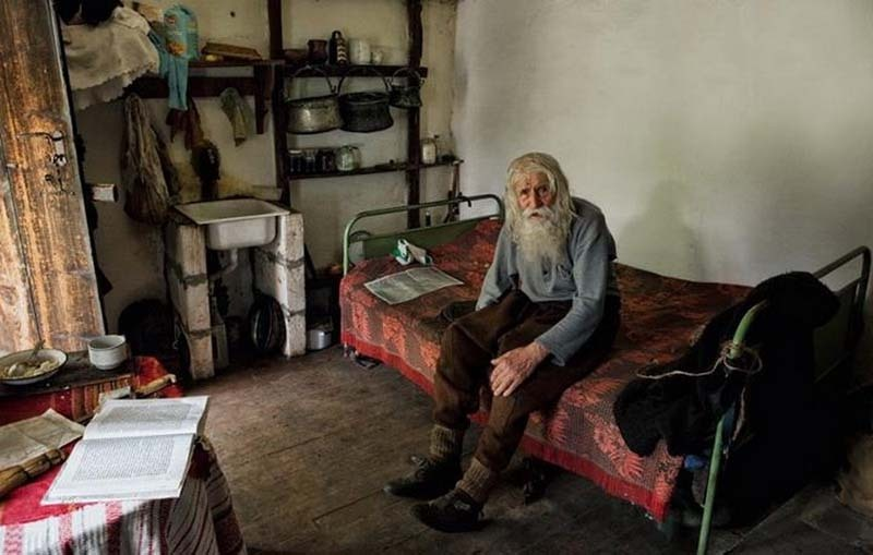 98 year old dobri dobrev, a man who lost his hearing in the second world war, walks 10 kilometers from his village in his homemade clothes and leather shoes to the city of sofia, where he spends the day begging for money. though a well recognized fixture around several of the city's chruches, known for his prostrations of thanks to all donors, it was only recently discovered that he has donated every penny he has collected — over 40,000 euros — towards the restoration of decaying bulgarian monasteries and churches and the utility bills of orphanages, living entirely off his monthly state pension of 80 euros and the kindness of others.