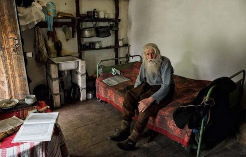 myownequilibrium:  awkwardsituationist:  98 year old dobri dobrev, a man who lost his hearing in the second world war, walks 10 kilometers from his village  in his homemade clothes and leather shoes to the city of sofia, where he spends the day begging for money.  though a well recognized fixture around several of the city's chruches, known for his prostrations of thanks to all donors, it was only recently discovered that he has donated every penny he has collected — over 40,000 euros — towards the restoration of decaying bulgarian monasteries and churches and the utility bills of orphanages, living entirely off his monthly state pension of 80 euros and the kindness of others.  Wow.