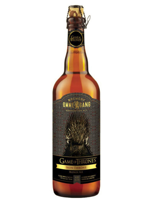 Prepare yourselves, for Game of Thrones the beer is coming Drink like a king… out of a bottle. Iron Throne blonde ale is the official beer of HBO's Game of Thrones, made by Ommegang Brewery in Cooperstown, NY. The beer will be released with the new season of Game of Thrones on March. Via