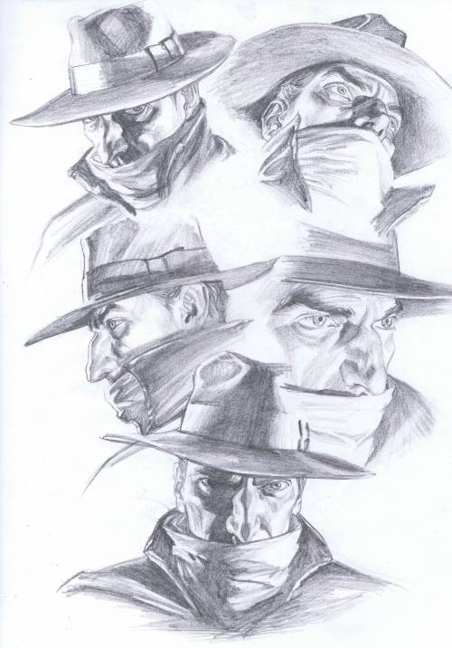 comicblah:  The Shadow headshots by Alex Ross