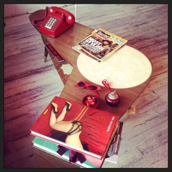 vintagevandalizm:  Cute danish modern table at the @slapbacks_nyc shop! oh boy i need that table