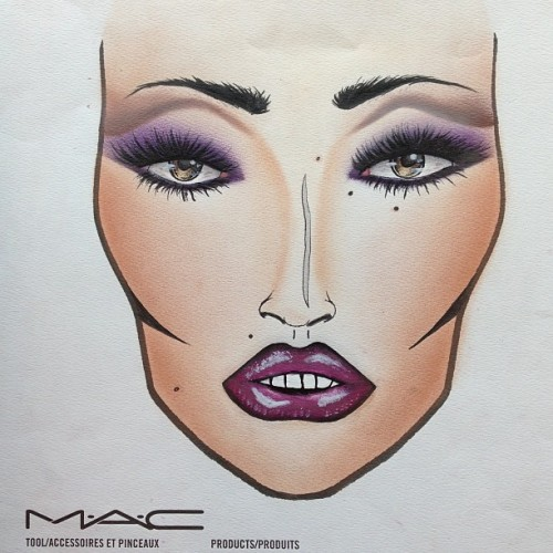 xunya:  Girl you lookin real hungry #maccosmetics #facechart