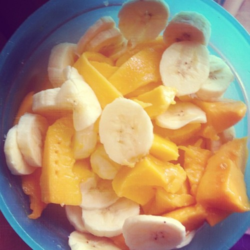 Mango banana breakfast bliss~