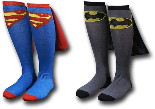 of course those sockscome in adult sizes, too ;-)so… do you want to be batman or superman?