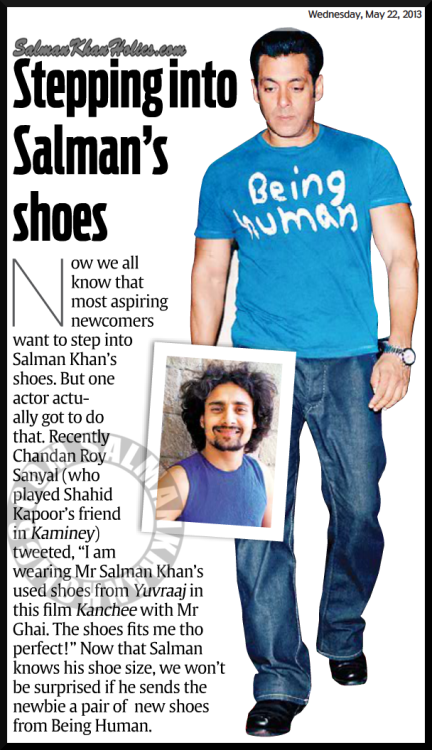 ★ Stepping into Salman's shoes !