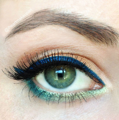 beach inspired eyeshadow