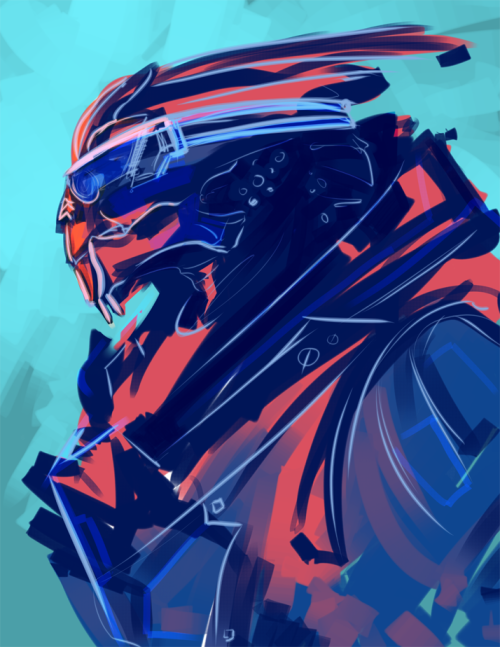 stonelions:  semi-abstract garrus (sorry that you look like an 80s ski jacket garrus, sorry about that)